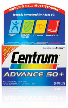 Centrum Advance 50+ tablets pack of 30's