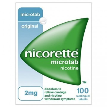 Nicorette (nicotine) microtabs 2mg pack of 100