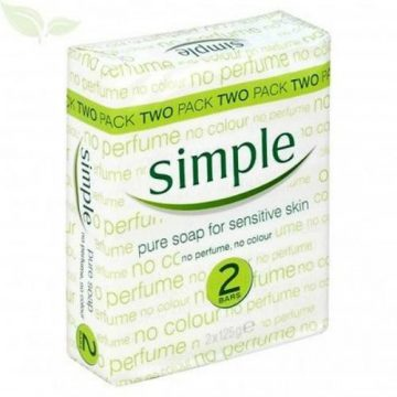 SIMPLE PURE SOAP TWIN PACK FOR SENSITIVE SKIN 125G
