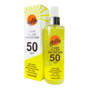 MALIBU CLEAR ALL DAY PROTECTION SPF 50 250ML