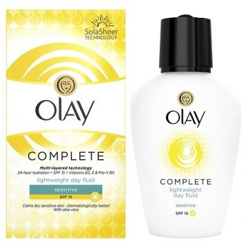 OLAY COMPLETE LIGHT WEIGHT DAY FLUID SENSITIVE SPF 15 100ML