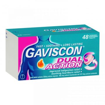 GAVISCON DOUBLE ACTION TABLETS 48`S