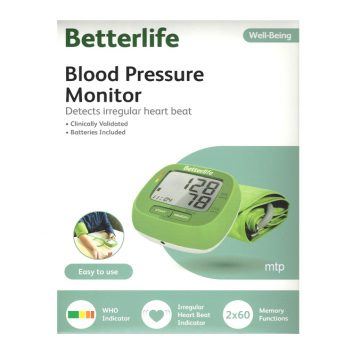 BETTER LIFE BLOOD PRESSURE MONITOR