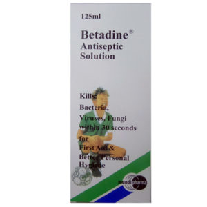 BETADINE ANTISEPTIC SOLUTION 125ML