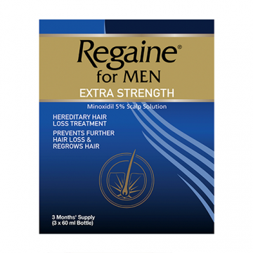 REGAINE FOR MEN EXTRA STRENGTH 5% SOLUTION TRIPPLE PACK (3X60ML)